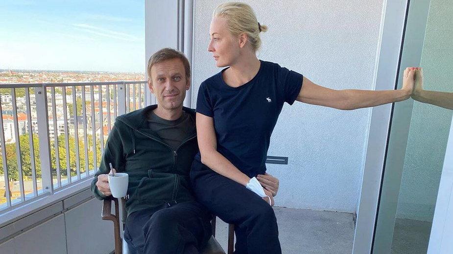 Aleksiej Nawalny z żoną Julią