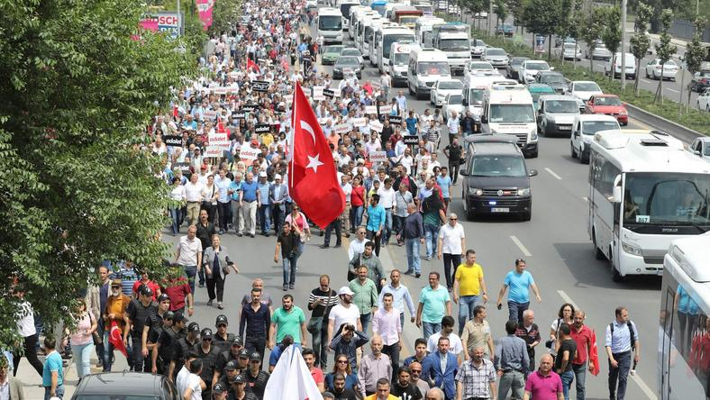Marsz protestacyjny w Ankarze