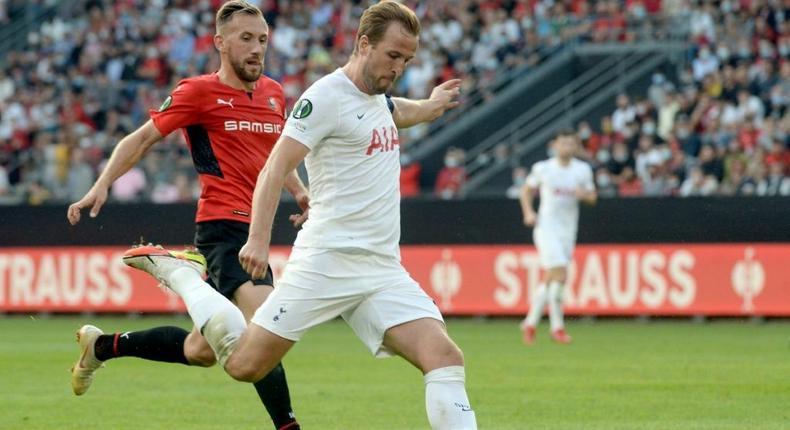 Tottenham striker Harry Kane Creator: JEAN-FRANCOIS MONIER