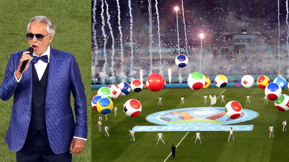 Andrea Bocelli na ceremonii otwarcia Euro 2020