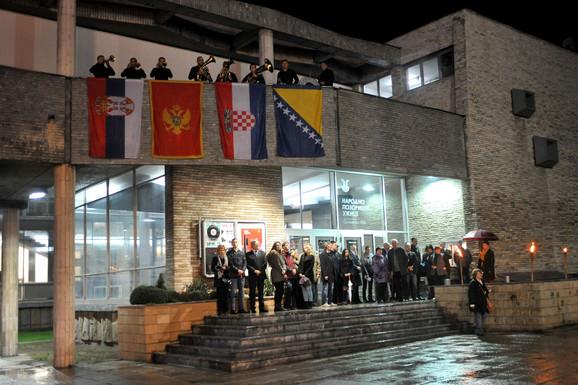Detalj sa otvaranja prošlogodišnjeg Jugoslovenskog pozorišnog festivala u Užicu