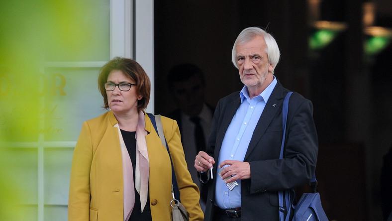 Wicemarszałek Sejmu Ryszard Terlecki i rzeczniczka PiS Beata Mazurek