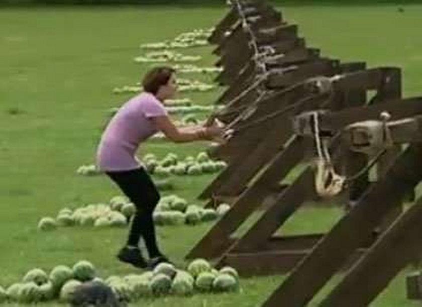 Miotanie arbuzami. Bezpieczny sport? Wideo