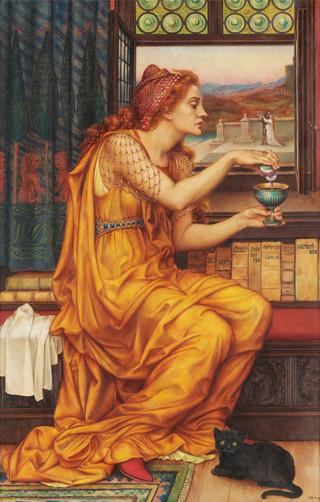 Łyk sztuki do kawy z obrazem Evelyn De Morgan 'Eliksir miłości'