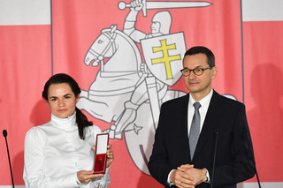 Cichanouska spotkała się z Morawieckim