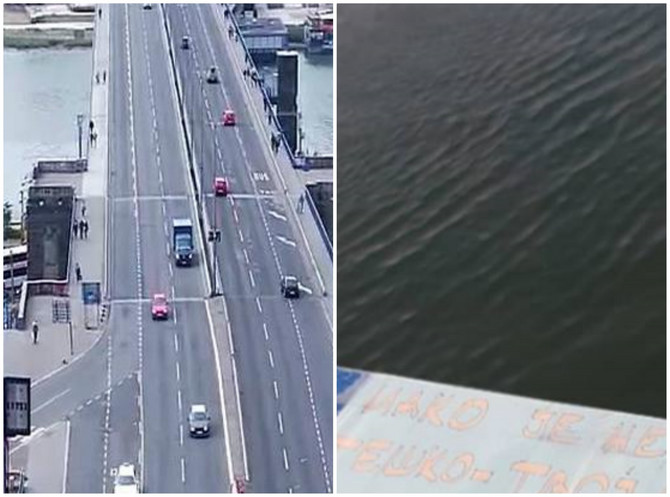 Da li ste videli poruku na Brankovom mostu?
