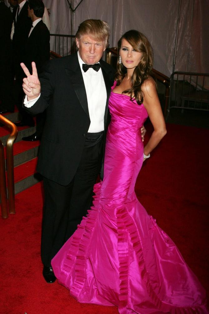 Melanija i Donald na Met gali 2008. u Njujorku