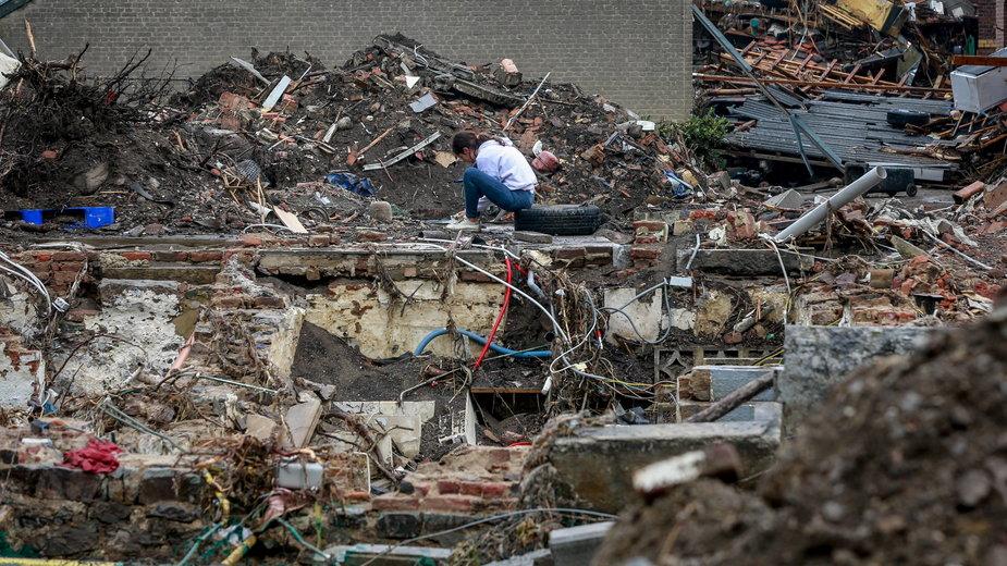 Skutki powodzi w Belgii