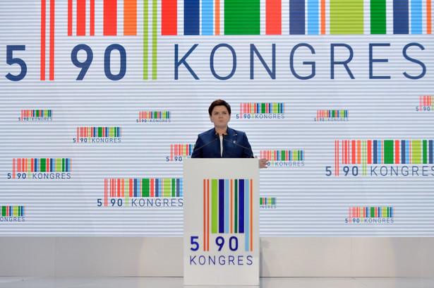 Premier Beata Szydło przemawia podczas Kongresu 590,