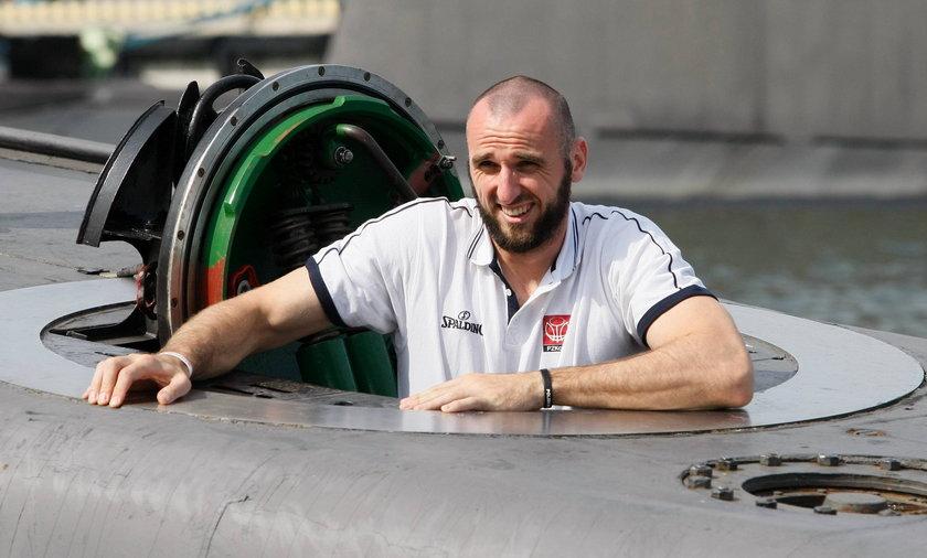 Marcin Gortat z wizytą na ORP Orzeł