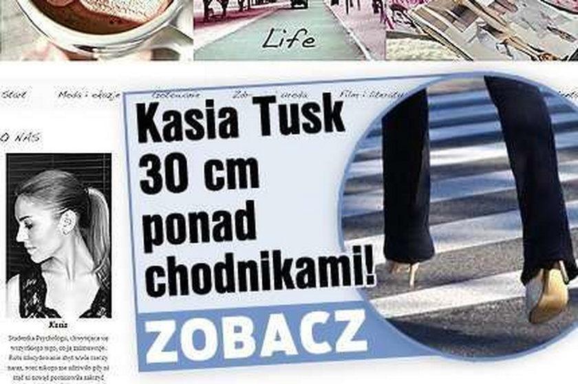 Kasia Tusk. 30 cm ponad chodnikami! FOTO