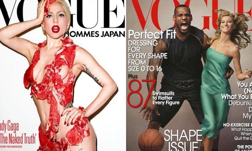 Lady Gaga, Gisele Bundchen i Lebron James na okładkach Vogue