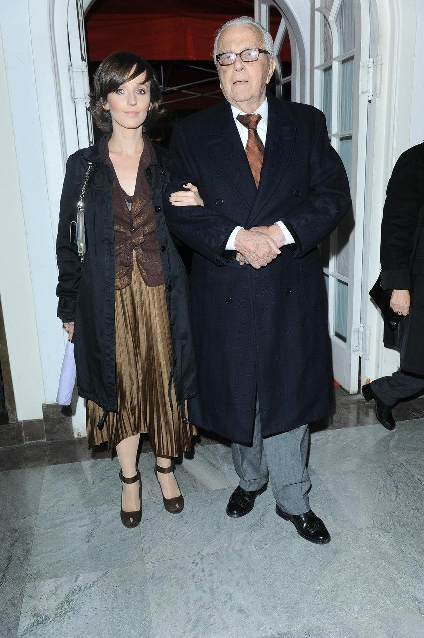 Łapicki z żoną