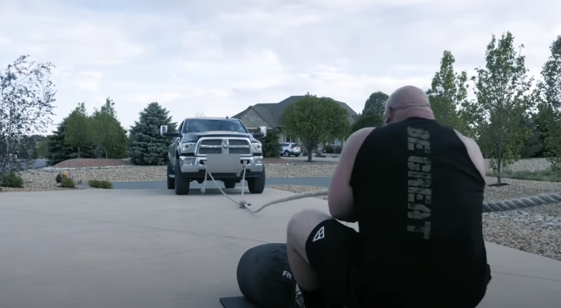 Watch Strongman Brian Shaw Pull a Truck Up His Driveway