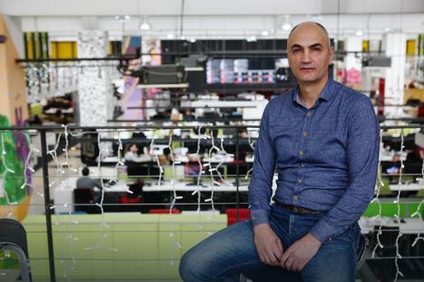 "Petar Naumoski u redakciji ""Blica"""