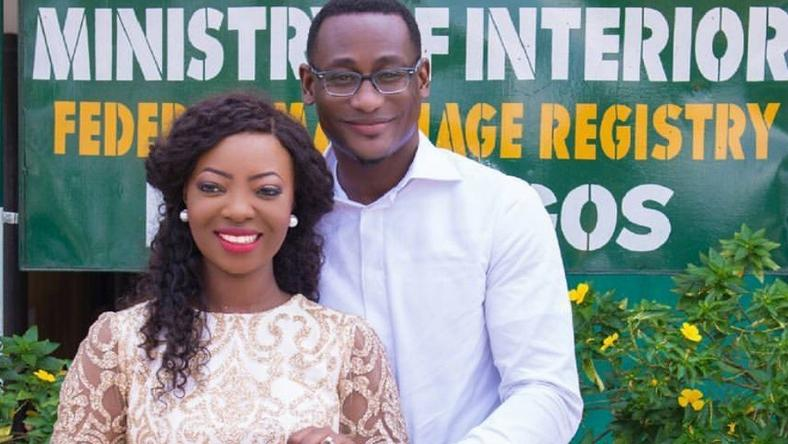 Designer ties the knot with Lanre Tomori legally at Ikoyi Registry
