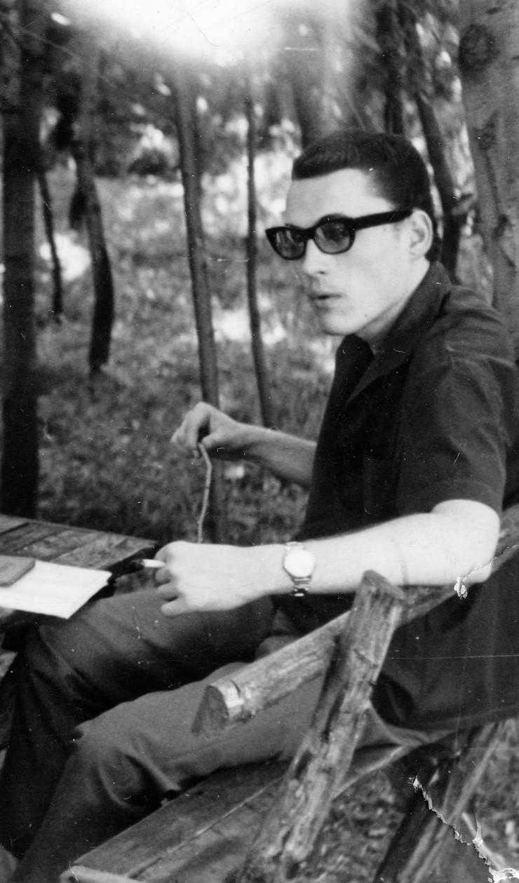 Ranko Munitić u Arhivu Kinoteke na Kosutnjaku - 60-ih godina