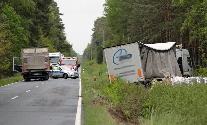 Kierowca zmiażdżony przez ciężarówkę