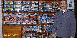 Wielka pasja emerytowanego policjanta: Kolekcjonuje modele radiowozów