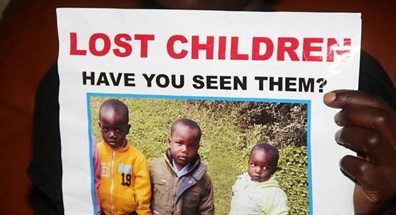 A poster of Eldoret MCA aspirant James Ratemo's children who were found dead.
