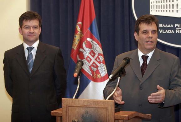 Lajčak sa Koštunicom 2006. godine u vladi Srbije