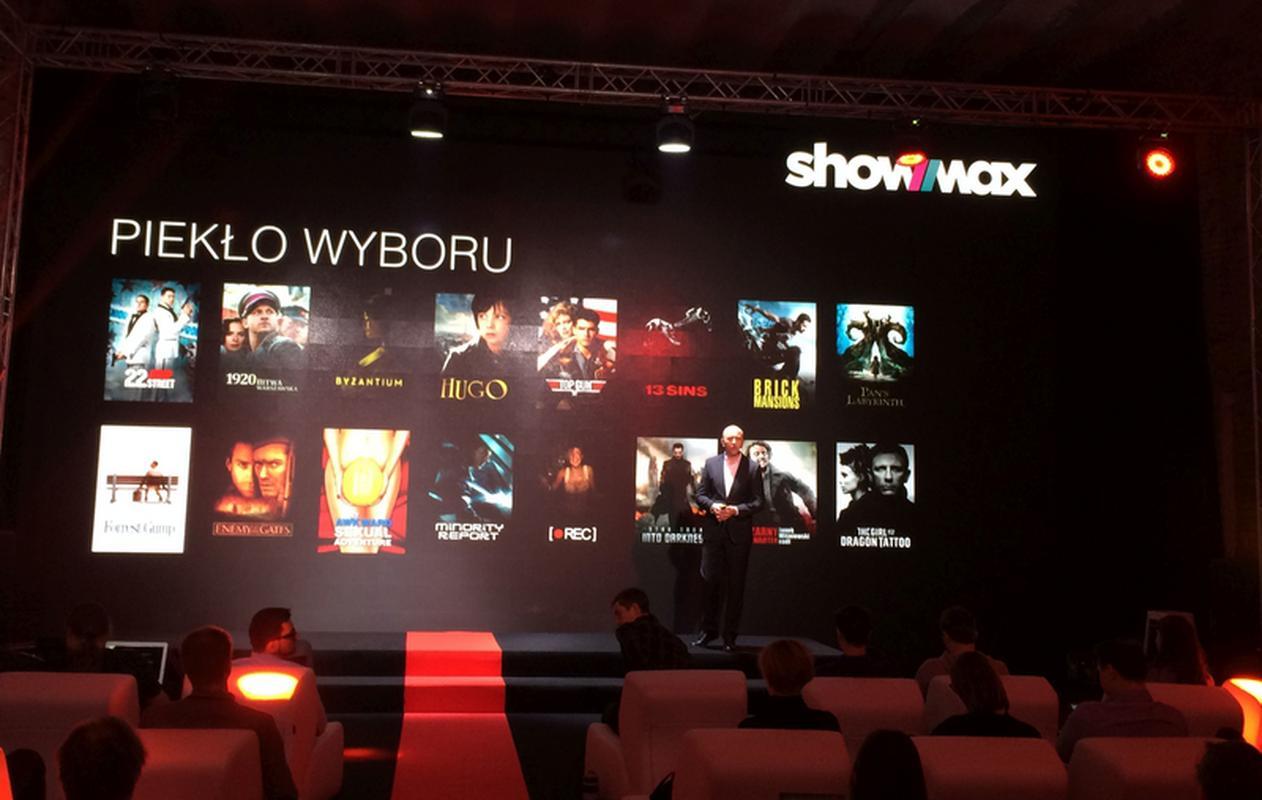 Maciej Sojka prezentujący ofertę ShowMaxa podczas konferencji