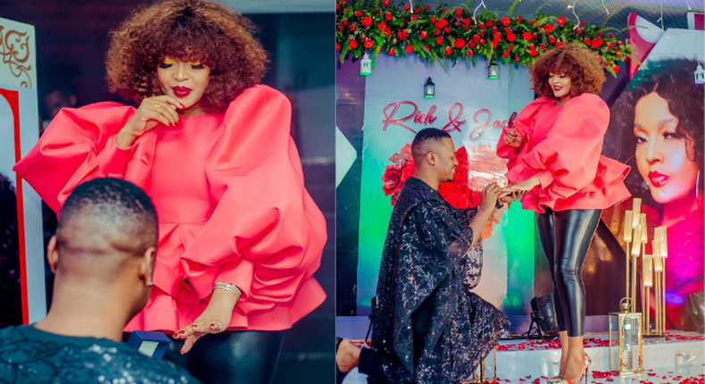 Actress Jaqueline Wolper in tears as Baby Daddy Rich proposes [Video]