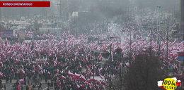 Zobacz jak wyglądał Marsz Niepodległości
