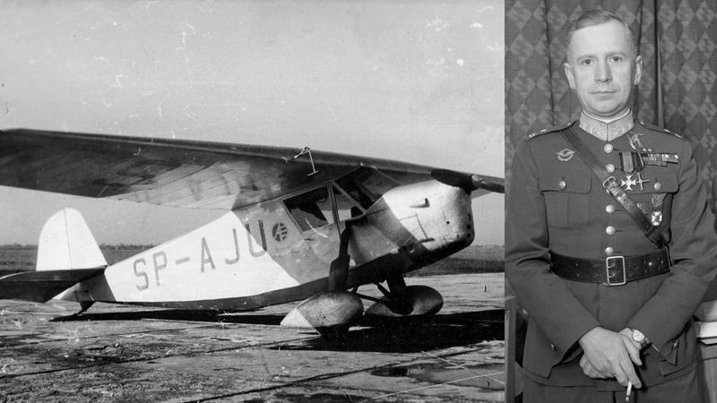 Kpt. Stanisław Skarżyński i jego samolot