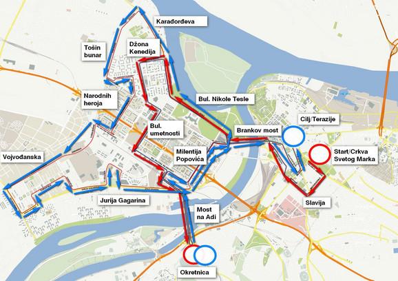 Trase Beogradskog maratona