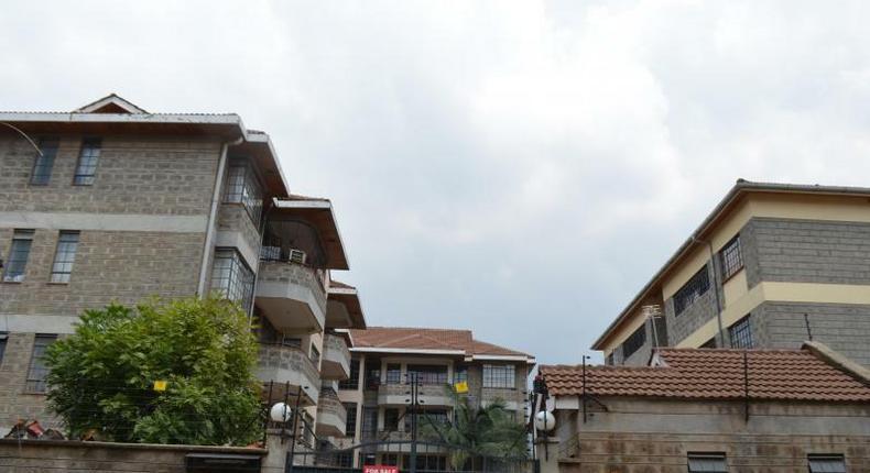 File image of buildings in Nairobi's South B estate