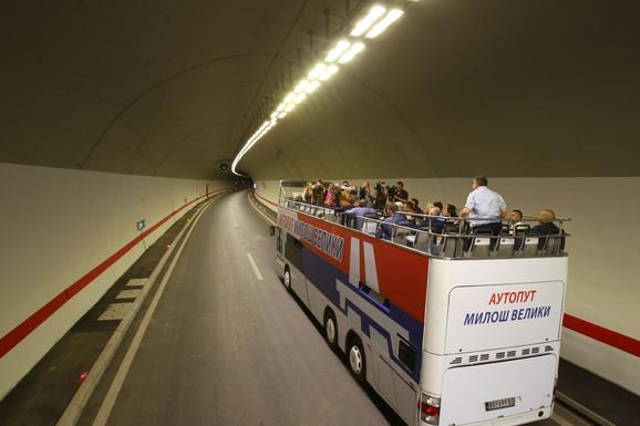 Unutrašnjost tunela Brančić