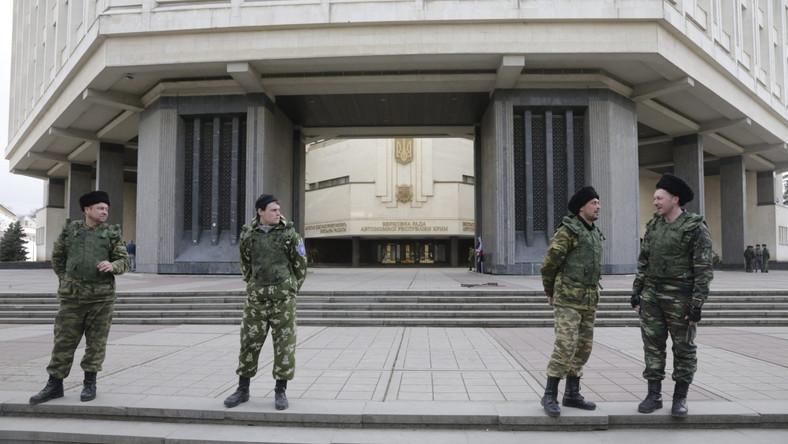 Budynek krymskiego parlamentu w Symferopolu