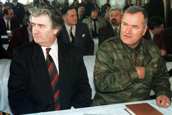 Radovan Karadzic i Ratko Mladic