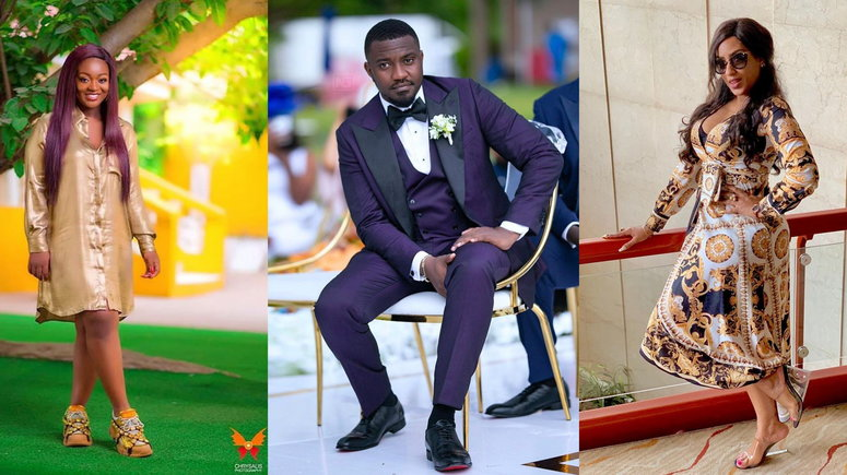 Jackie Appiah, John Dumelo and Juliet Ibrahim and the top three most followed celebrities on TikTok (Source: Instagram)