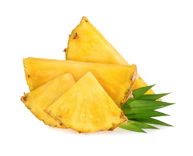Pineapple slices isolated