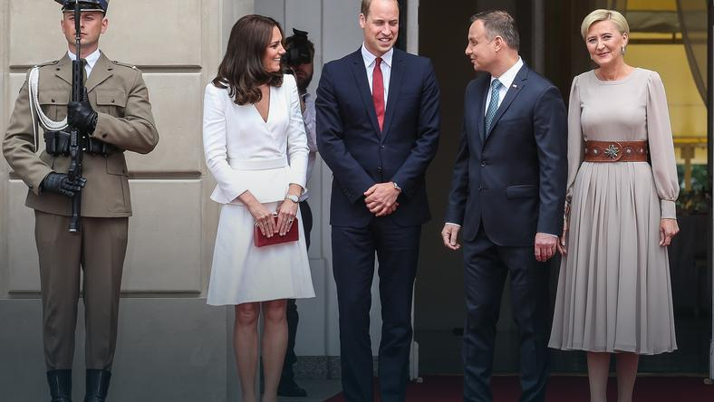 WARSZAWA BRYTYJSKA PARA KSIĄŻĘCA WIZYTA (książę William, księżna Kate, Andrzej Duda, Agata Kornhauser-Duda)