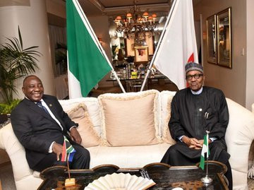 President Ramaphosa and President Buhari discusses in Yokohama