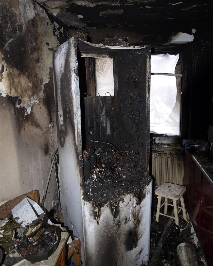Lodówka wybuchła w mieszkaniu