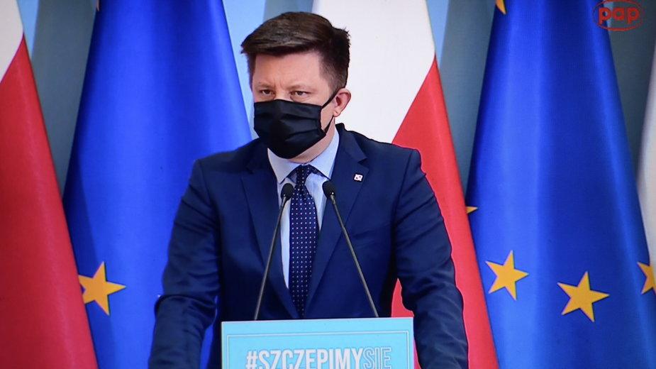 Michał Dworczyk - szef Kancelarii Prezesa Rady Ministrów i pełnomocnik rządu ds. szczepień
