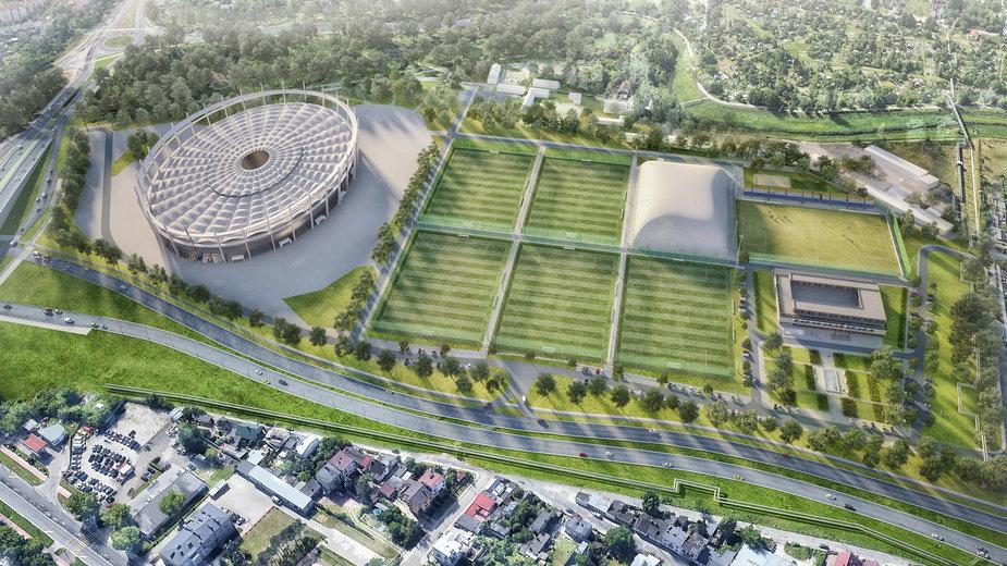 Lubelska Akademia Futbolu i stadion żużlowy - wizualizacja