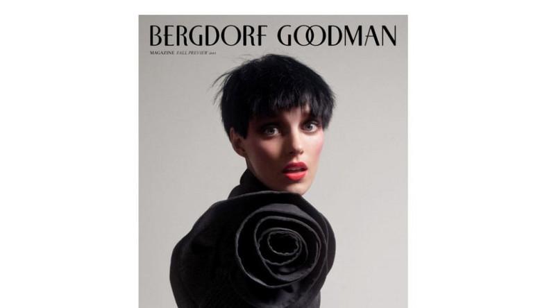 Anja Rubik w kampanii reklamowej domu towarowego Bergdorf Goodman zmieniła się w ciemnowłosą chłopczycę.