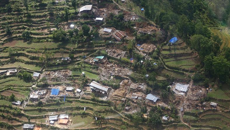 Trzęsienie ziemi w Nepalu. Widok zniszczeń