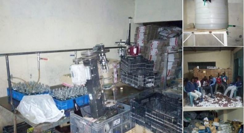 DCI raid illegal alcohol manufacturing plant in Nairobi, 8 arrested
