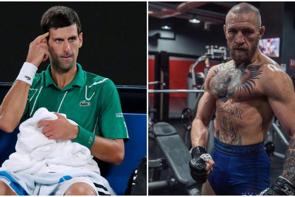 """""""SABERI SE!"""" Haos: Konor Mekgregor opleo po Novaku Đokoviću i ostalima koji dižu glas: Ama, širom raširenih ruku da prihvatite to što vam nude!"""