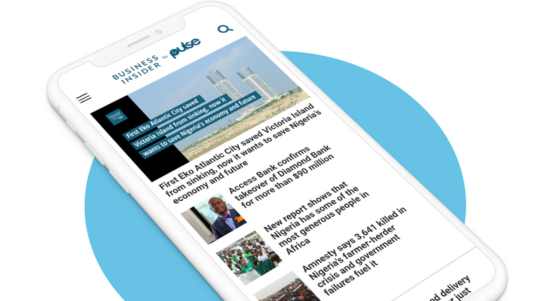 Mobile view of the new Business Insider SSA by Pulse homepage