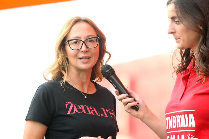 Jelena Isaković Veković juče na treningu u Beogradu