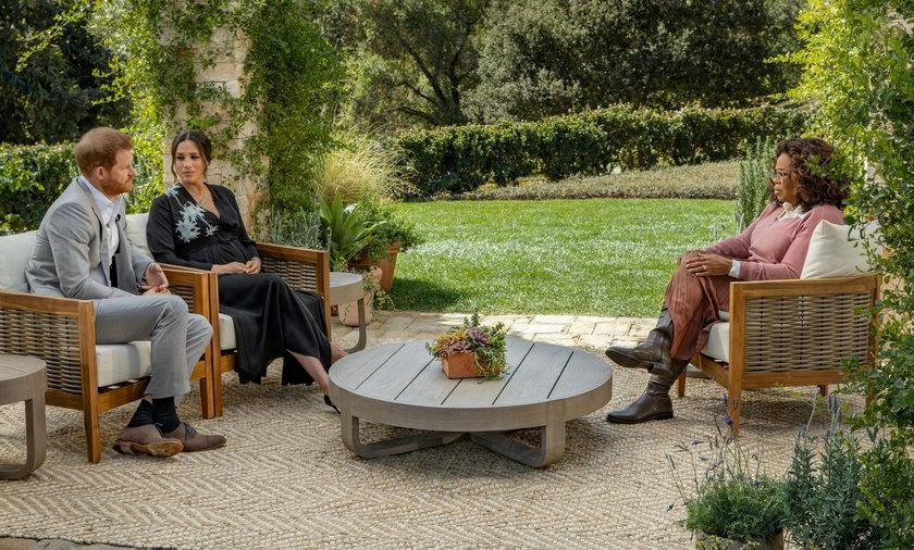 Meghan Markle i książę Harry w Oprah Winfrey Show. Brytyjczycy chcą pozbawić ich tytułów.
