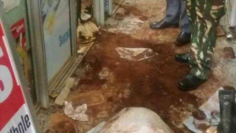 File photo: Part of the damage caused by thieves who dug a tunnel under KCB's Thika branch before