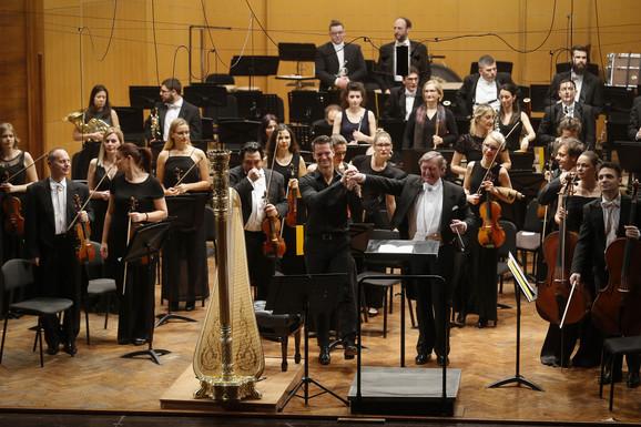 Gzavije de Mestr i dirigent Uroš Lajovic na Kolarcu
